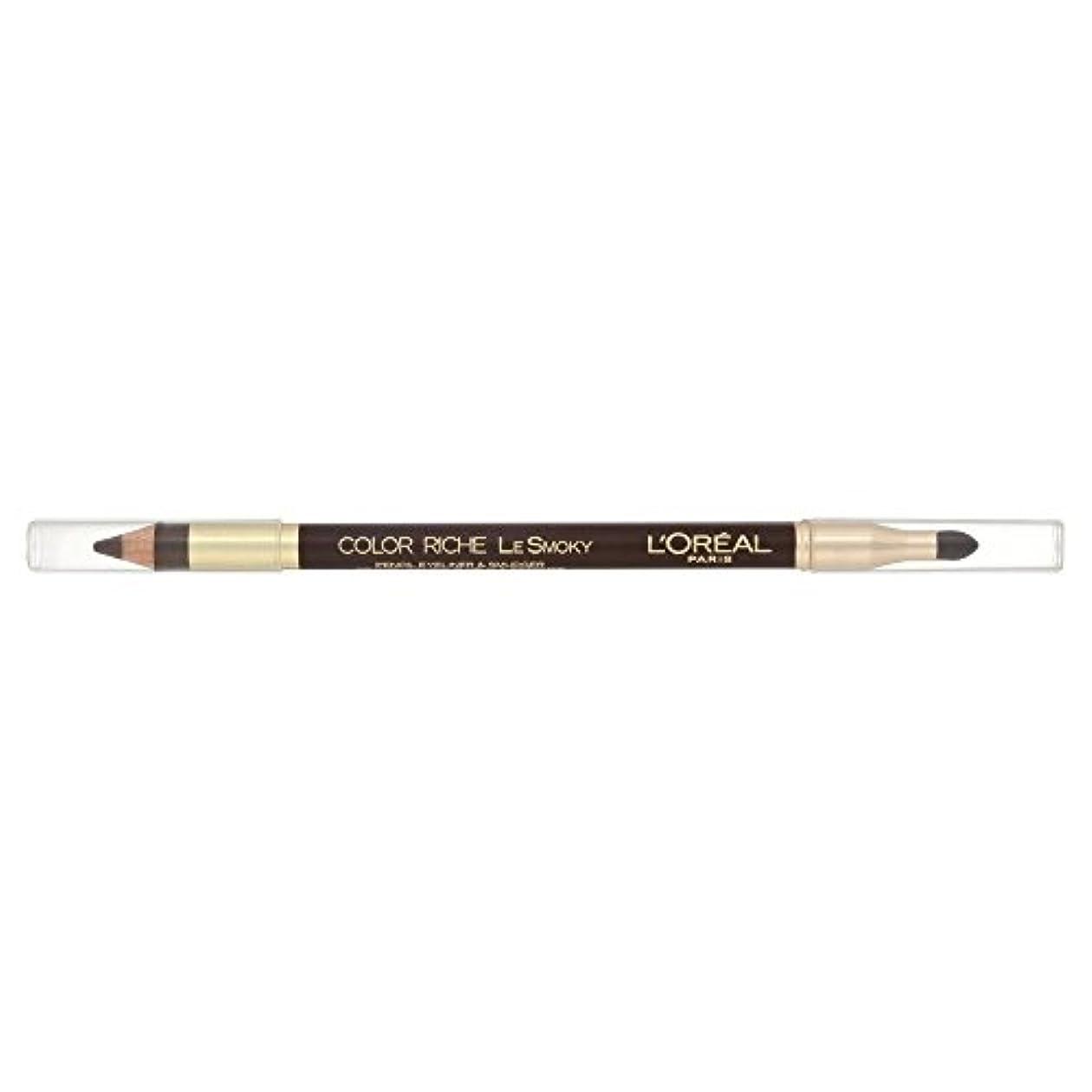 植物学機関継承Loreal Color Riche Le Smoky Eyeliner Brown Fusion 204
