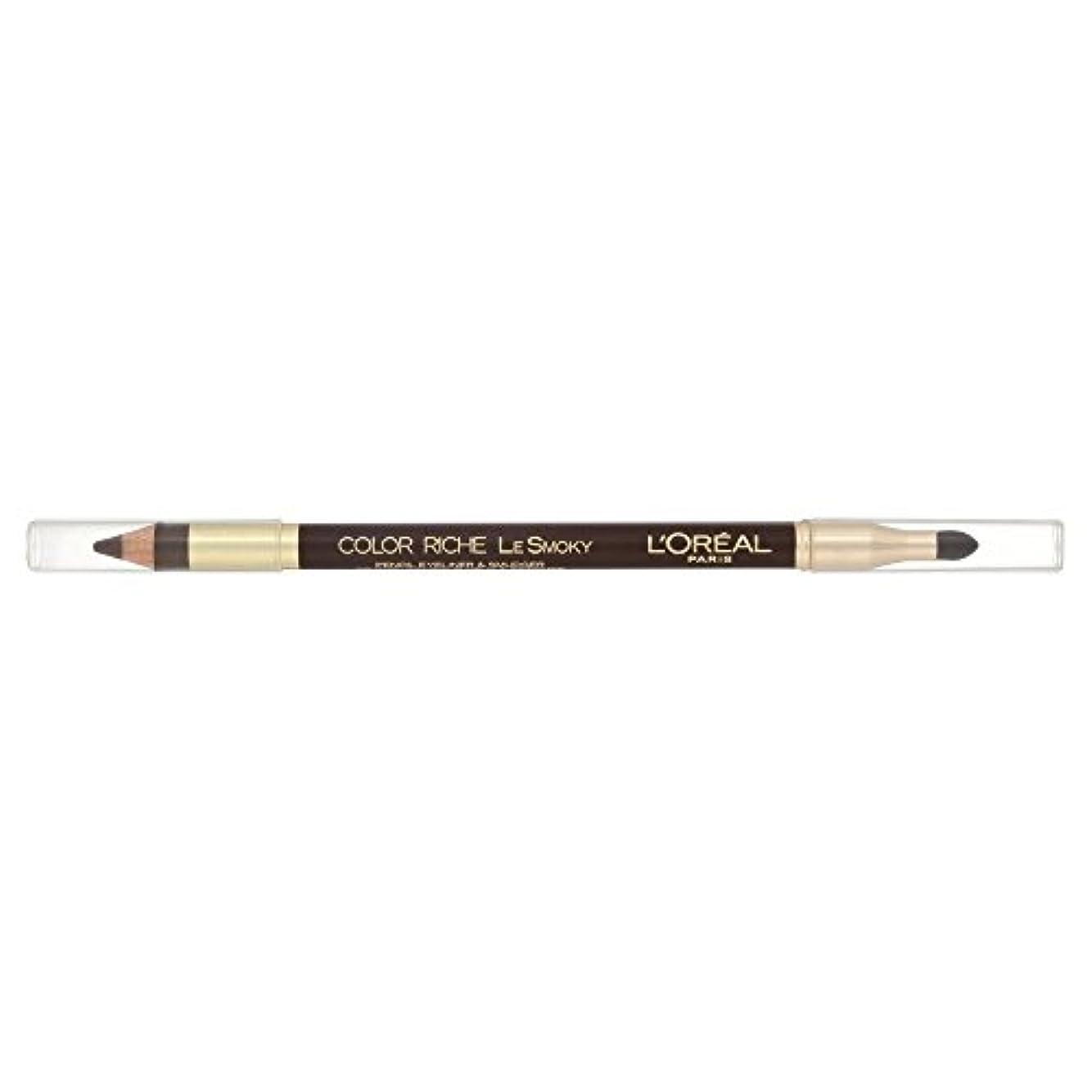 に慣れドリンクコロニーLoreal Color Riche Le Smoky Eyeliner Brown Fusion 204