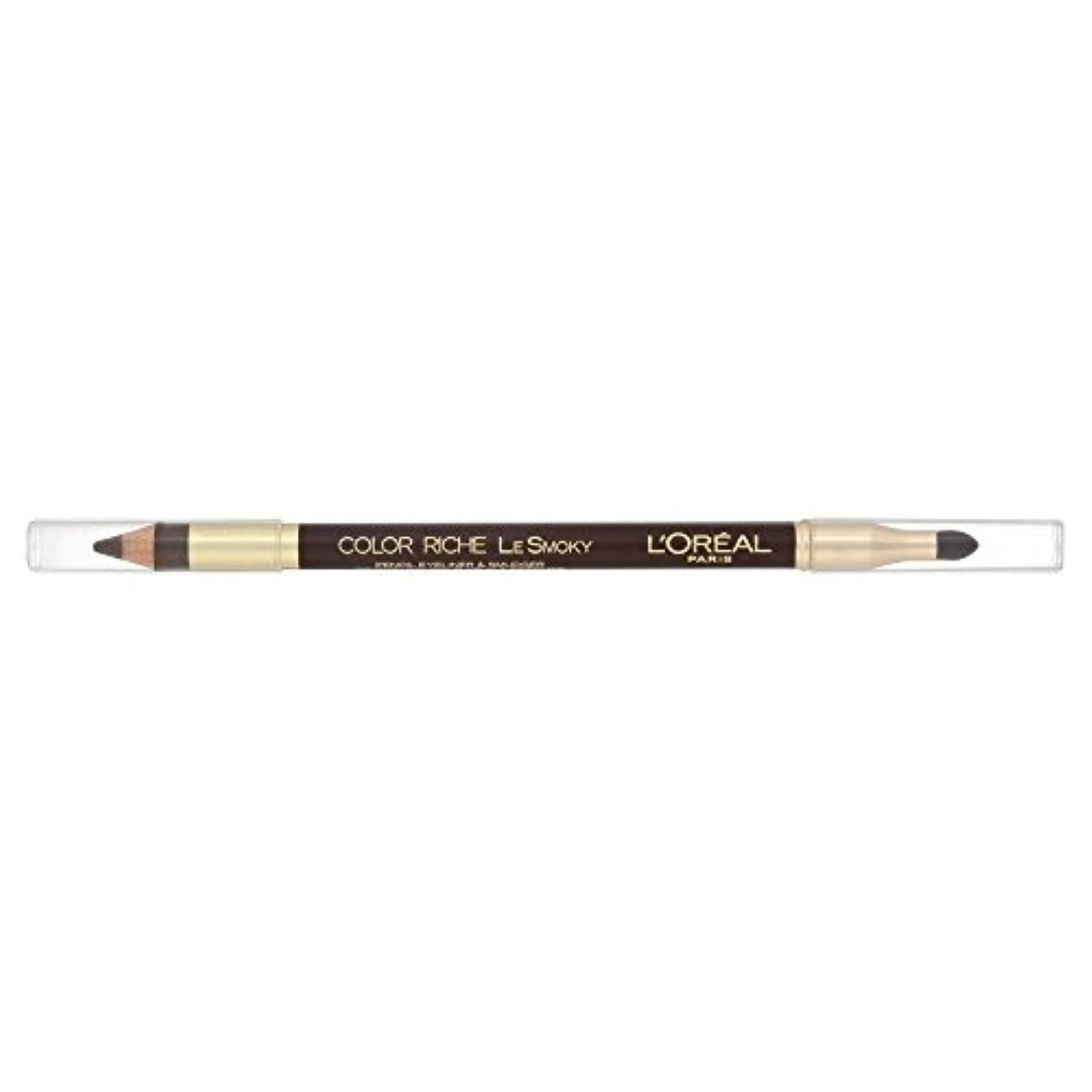 パースブラックボロウ満員カストディアンLoreal Color Riche Le Smoky Eyeliner Brown Fusion 204