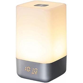 ホームグッディ 【目覚まし時計 光 で起こす】ウェイクアップライト ナイトテーブル ベッドサイド タッチセンサー LED 寝室 照明 調光