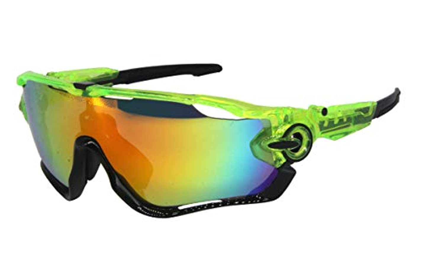 規則性収束するヒゲクジラAOKNES 偏光スポーツサイクリングメガネ ゴーグル メンズ レディース 交換レンズ3枚付き