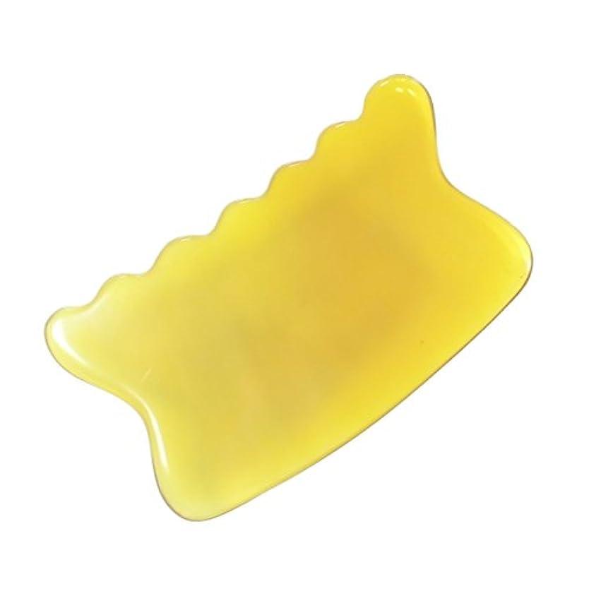 無駄主張する削減かっさ プレート 希少55 黄水牛角 極美品 曲波型