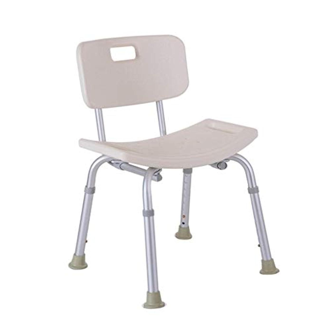 間接的後ろ、背後、背面(部州お風呂の椅子、背もたれ付き調節可能な高さ
