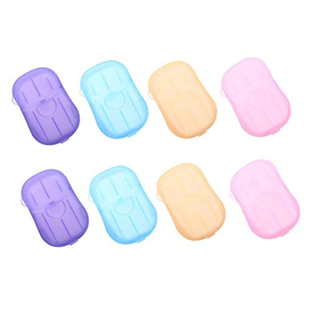 パネル呼吸するログHealifty 手洗いタブレット旅行8個入りの携帯用石鹸タブレット