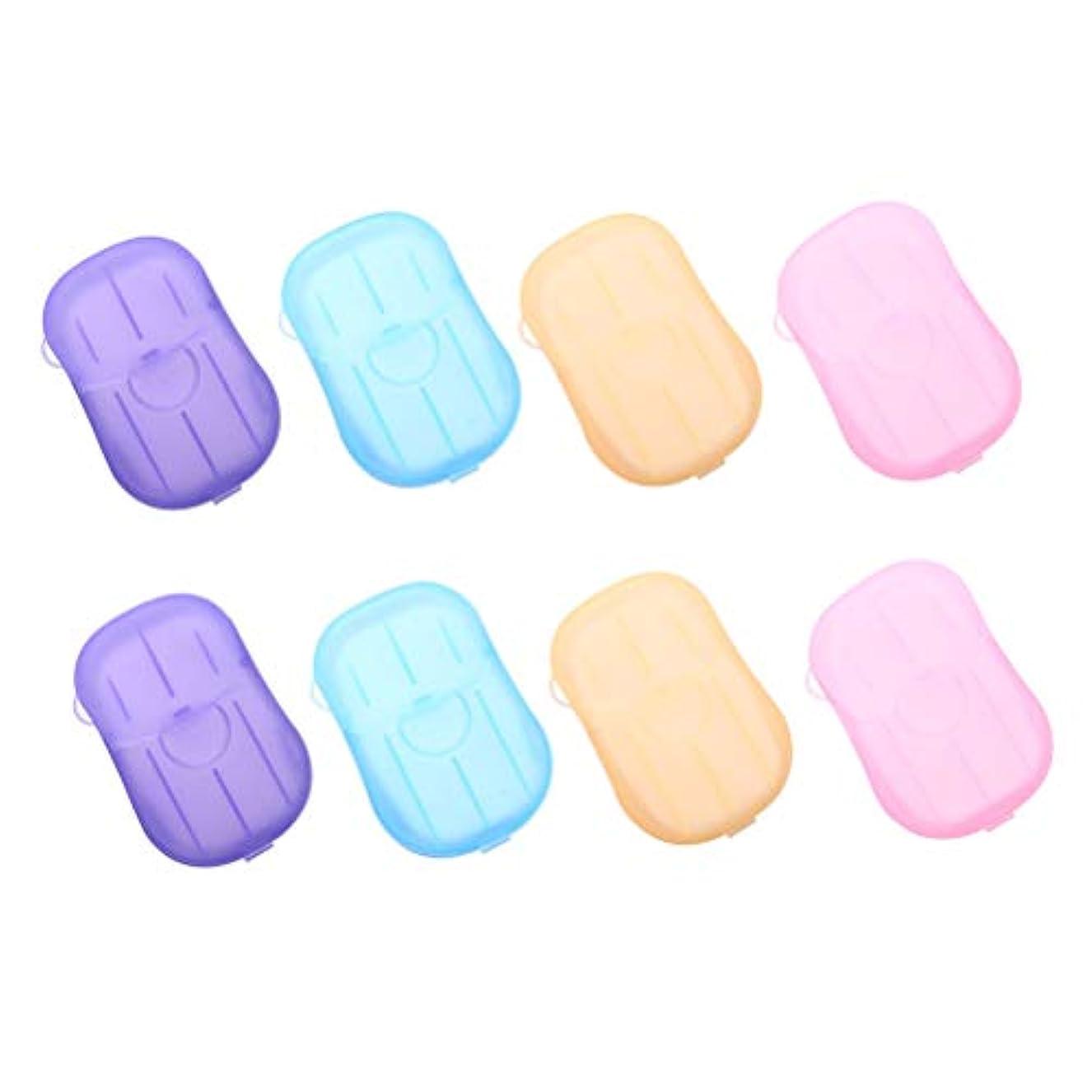 船上権限残基Healifty 手洗いタブレット旅行8個入りの携帯用石鹸タブレット