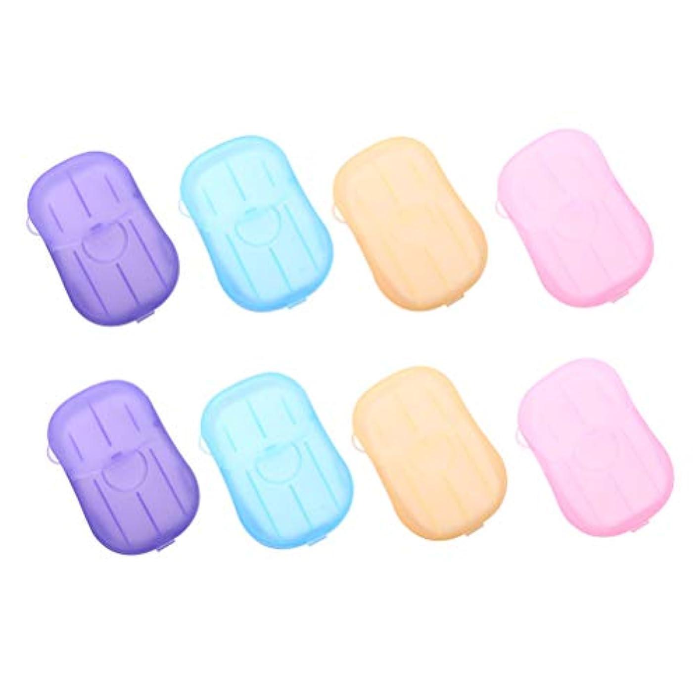 磁器ラジカル浸食Healifty 手洗いタブレット旅行8個入りの携帯用石鹸タブレット