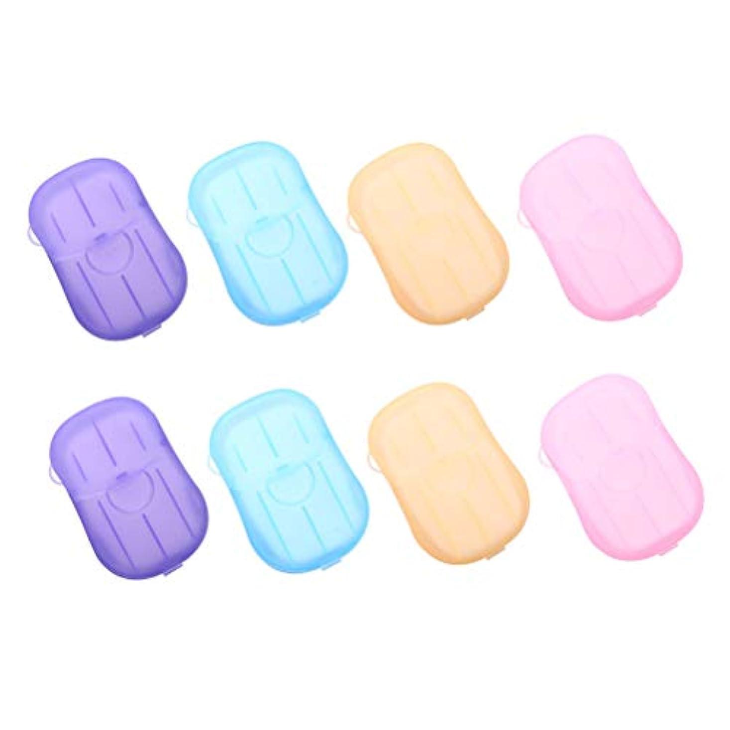 シャーロックホームズ遷移ぬれたHealifty 手洗いタブレット旅行8個入りの携帯用石鹸タブレット