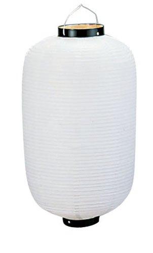 ビニール提灯長型 9号 白ベタ b7