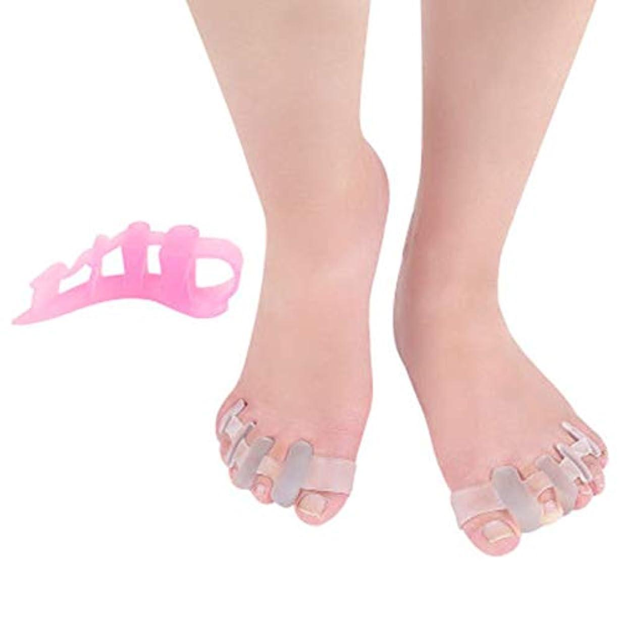打撃観客陰気MagRing Gel Toe Separator Toe Bunion Hallux Valgus Toe Stretchers for Men and Womenすぐに痛みを軽減イージーウェアカラー:透明