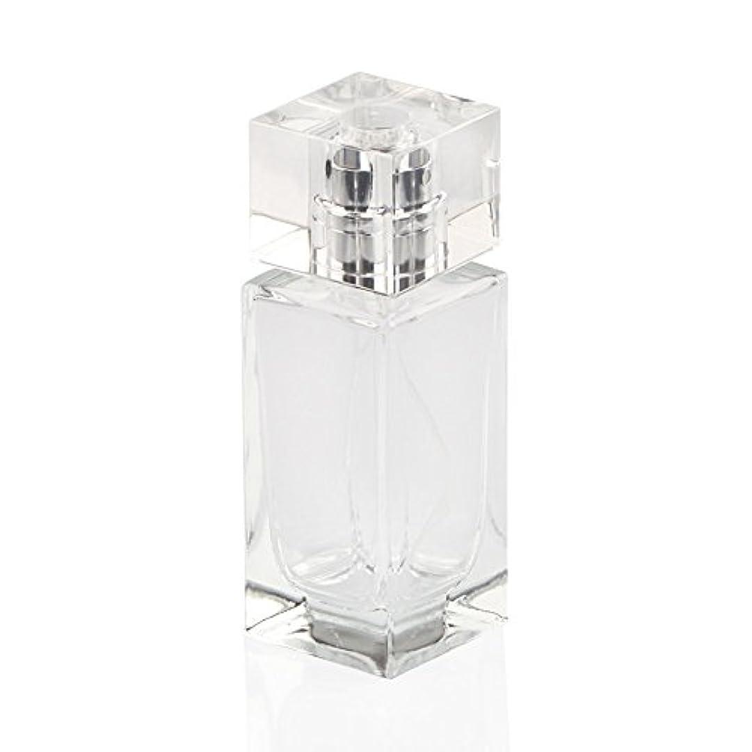 遠近法調整湾SAGULU 高品質ガラスボトル 香水瓶  アトマイザー  詰替用ボトル 化粧水用瓶 50ML 透明 シンプルデザイン ホーム飾り 装飾雑貨  銀色と金色のランダム出荷