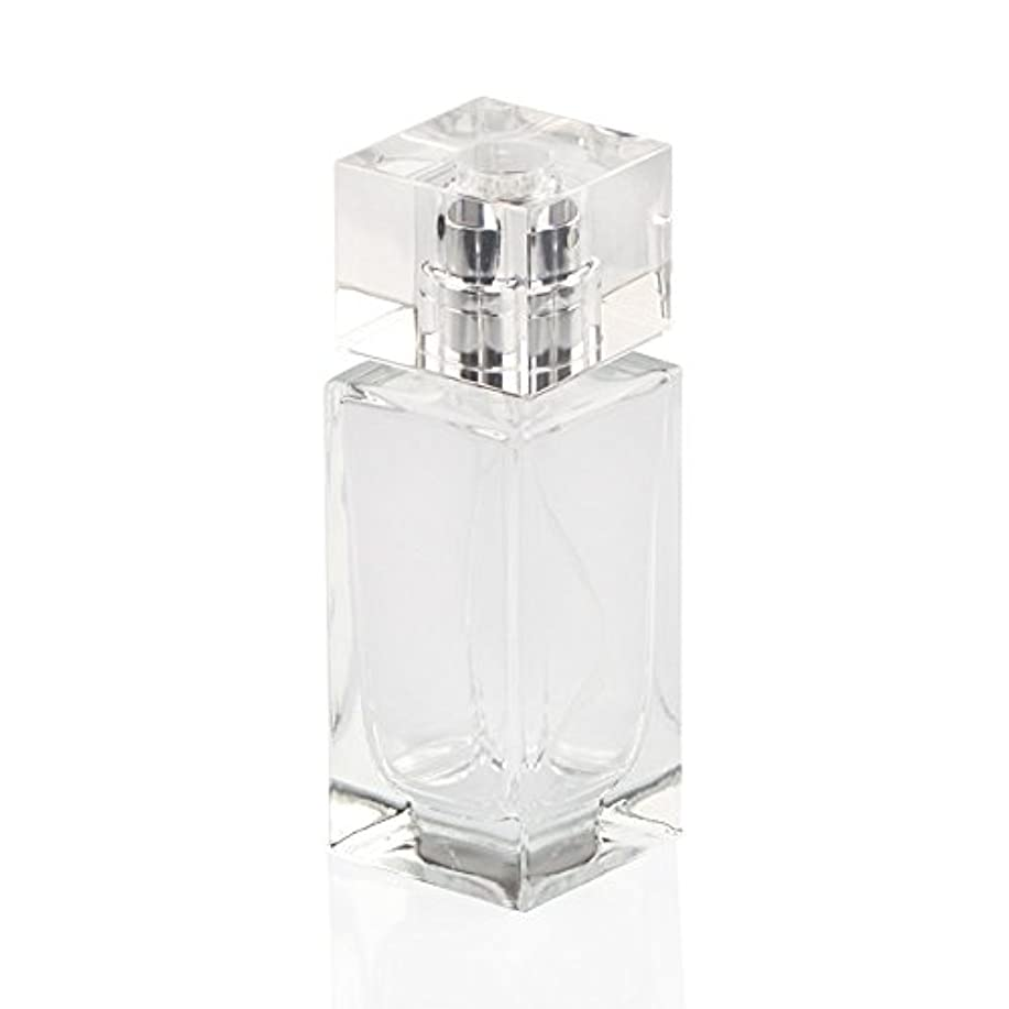 SAGULU 高品質ガラスボトル 香水瓶  アトマイザー  詰替用ボトル 化粧水用瓶 50ML 透明 シンプルデザイン ホーム飾り 装飾雑貨  銀色と金色のランダム出荷