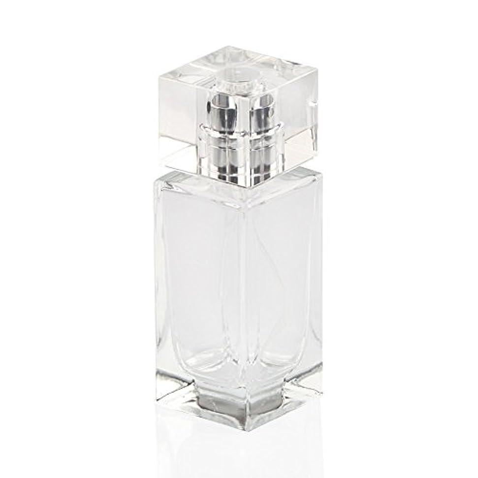 アクセサリーちらつき決めますSAGULU 高品質ガラスボトル 香水瓶  アトマイザー  詰替用ボトル 化粧水用瓶 50ML 透明 シンプルデザイン ホーム飾り 装飾雑貨  銀色と金色のランダム出荷