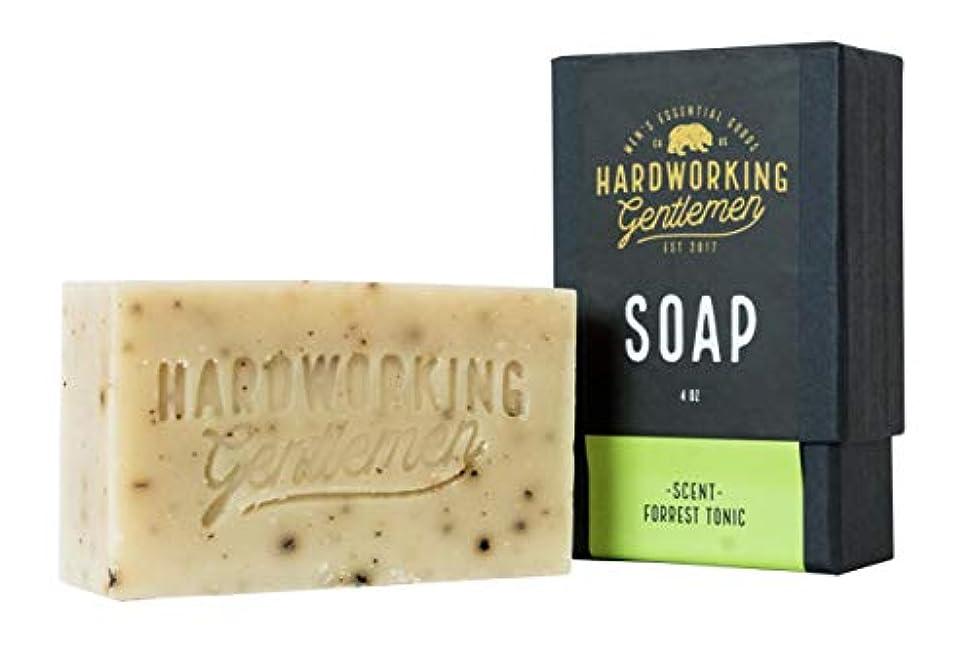 ぬれた反抗悲観主義者Hardworking Gentlemen (ハードワーキング ジェントルメン) Forest Tonic Soap バーソープ 固形せっけん 113g 天然成分 オーガニック