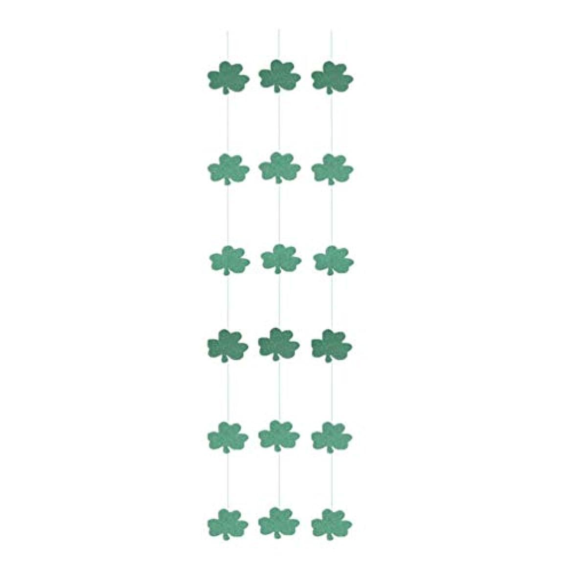 妖精代わりの破裂Amosfun 聖パトリックの日ぶら下げ装飾キラキラシャムロックガーランドバナー装飾アイルランド国旗ガーランドレイアウト小道具聖パトリックの日アイリッシュパーティー3ピース