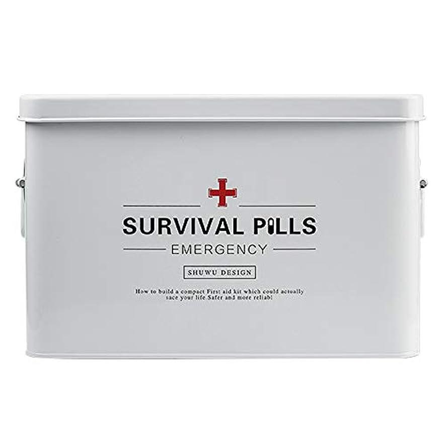 穴強いサロンYD 救急箱 医療ボックス - 亜鉛メッキ鉄材料、シンプルなポータブルポータブル防湿防塵防虫大容量、家族の小さな薬ボックス家庭の薬ボックス家族の医療ボックス子供の薬小さな薬ボックス赤ちゃんの薬ボックス薬収納ボックスツールボックス - 2サイズオプション /& (サイズ さいず : 32.5*19*20.5cm)