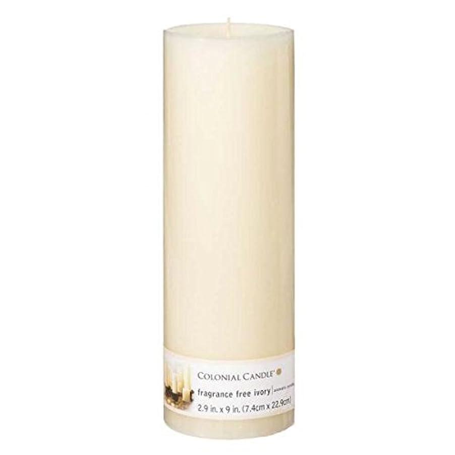 貨物やがてさらにColonial Candle – アイボリーピラー無香2.9 X 9