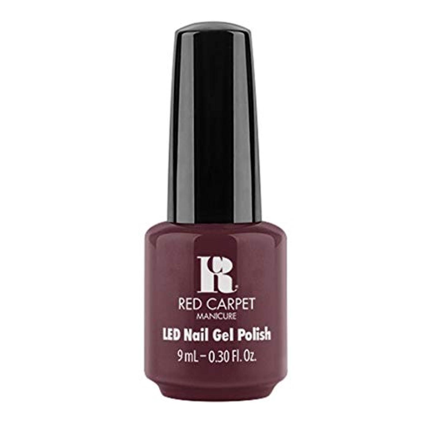キャラクターフィットネスあたたかいRed Carpet Manicure - LED Nail Gel Polish - Wine For The Win - 9ml / 0.30oz