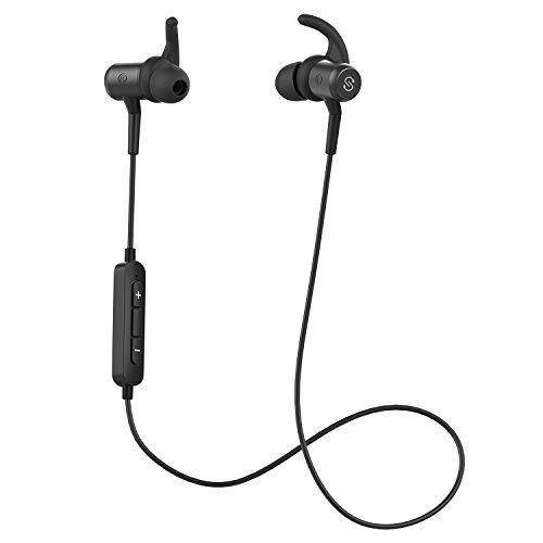 Q34 Bluetooth イヤホン 高音質 [メーカー1年保証] apt-Xコーデック採用 人間工学設計 マグネット搭載 IPX4防滴 IP4X防塵 マイク付き ハンズフリー通話 CVC6.0ノイズキャンセリング ブルートゥース イヤホン ワイヤレス イヤホン Bluetooth ヘッドホン ブラック