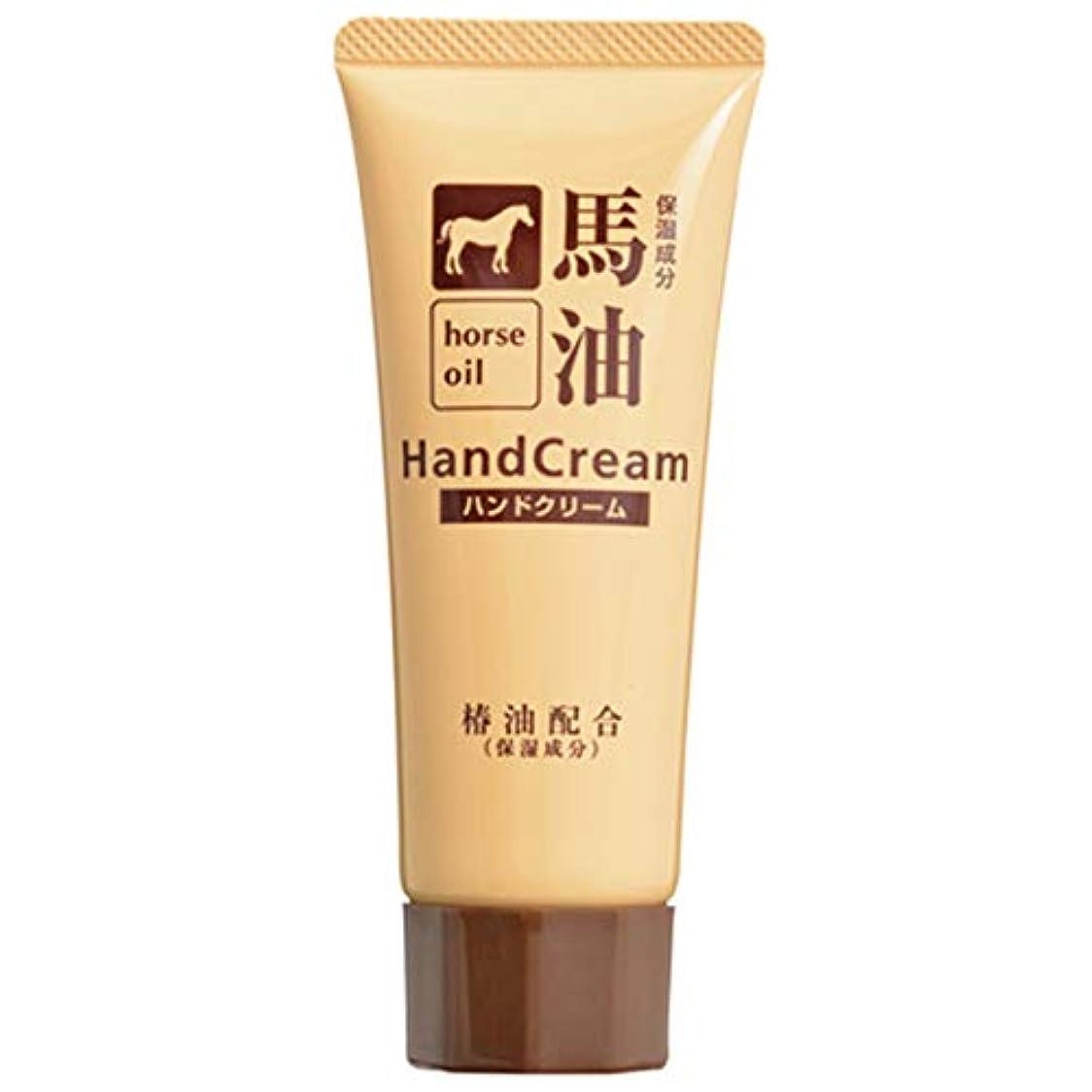 廃棄する直立世界的に熊野油脂 椿油配合馬油ハンドクリーム 60g
