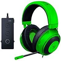 Razer Kraken Tournament Edition Green 立体音響対応ゲーミングヘ…