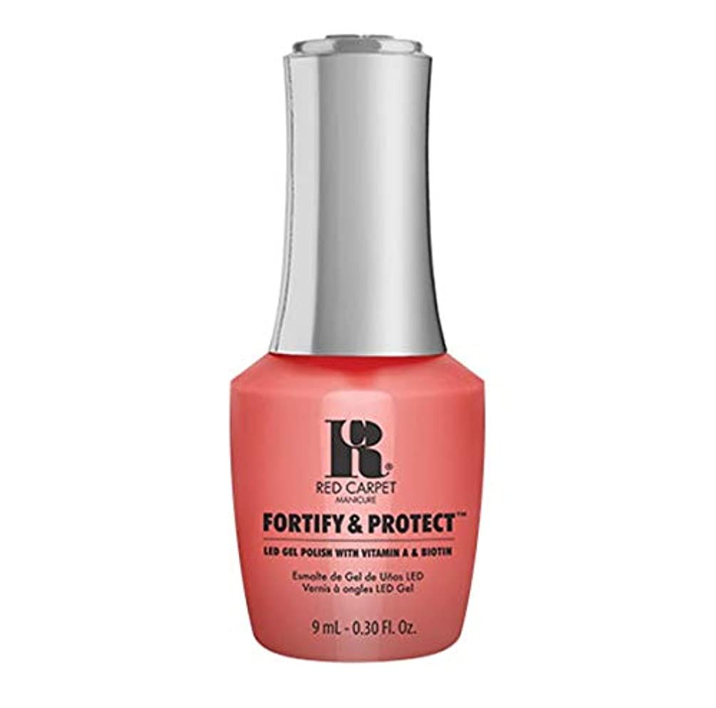 漁師スコットランド人抑止するRed Carpet Manicure - Fortify & Protect - Flashing Lights And Neon Signs - 9ml / 0.30oz