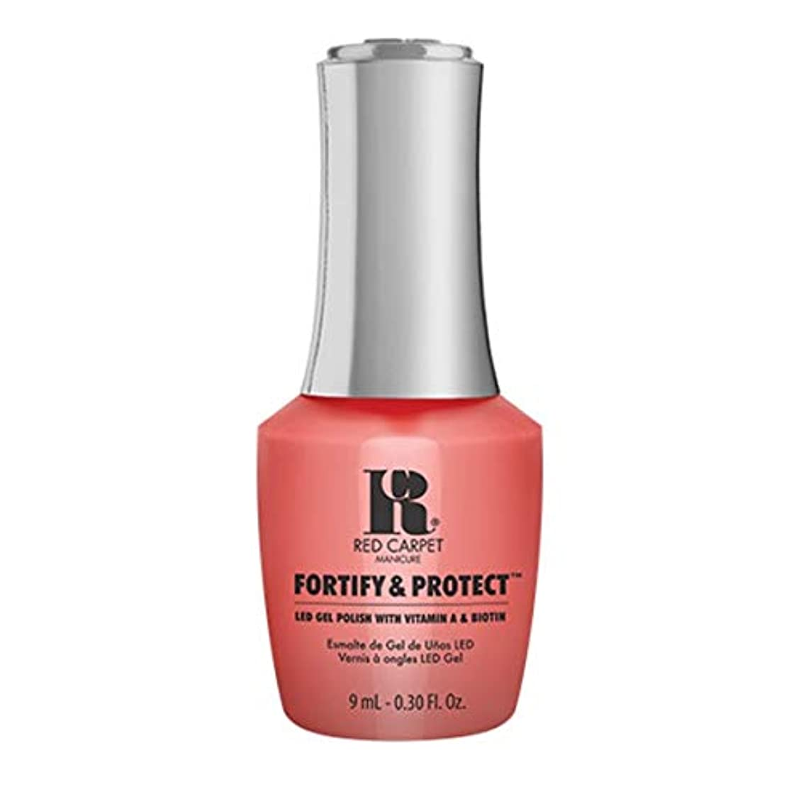 子音精神的に遷移Red Carpet Manicure - Fortify & Protect - Flashing Lights And Neon Signs - 9ml / 0.30oz