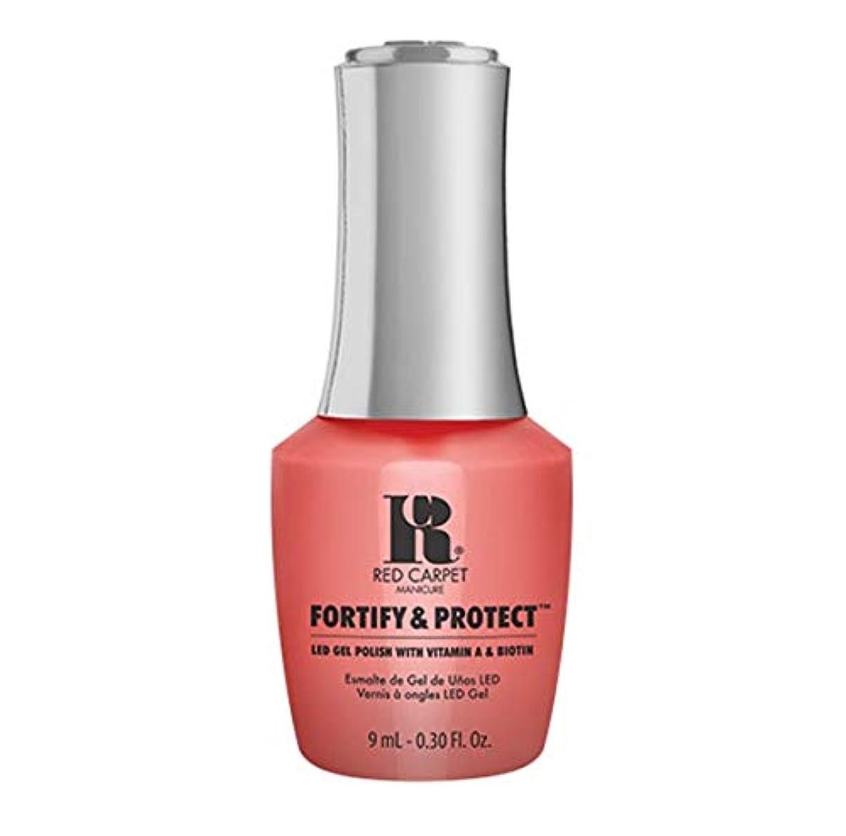 冷蔵庫副詞駐地Red Carpet Manicure - Fortify & Protect - Flashing Lights And Neon Signs - 9ml / 0.30oz