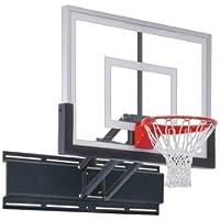 最初チームUnichamp II steel-acrylic調節可能な壁マウントバスケットボールsystem44 ;フォレストグリーン