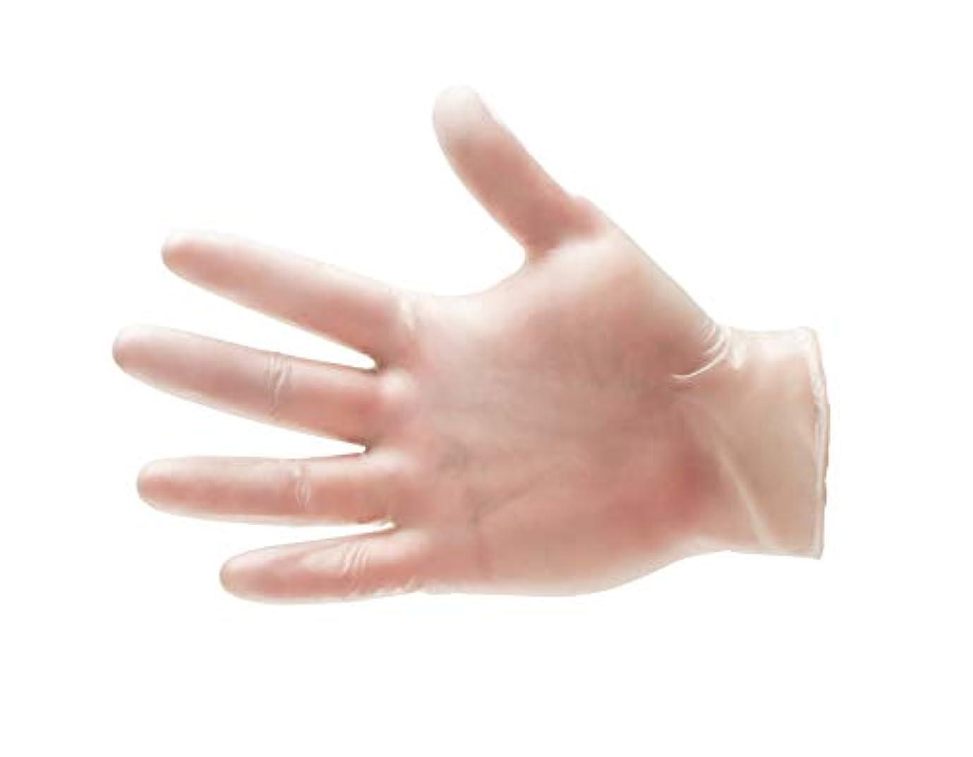 させる磁石指紋100 /ボックスビニール使い捨て手袋パウダーフリーnon-medical ‐ラージ4.5 Mil Thick