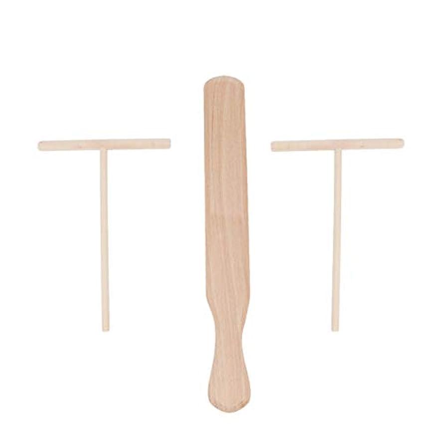 怖がって死ぬ工業化する連合UPKOCH 3個はブナ材クレープスプレッダーとヘラは木製のクレープメーカーを設定します