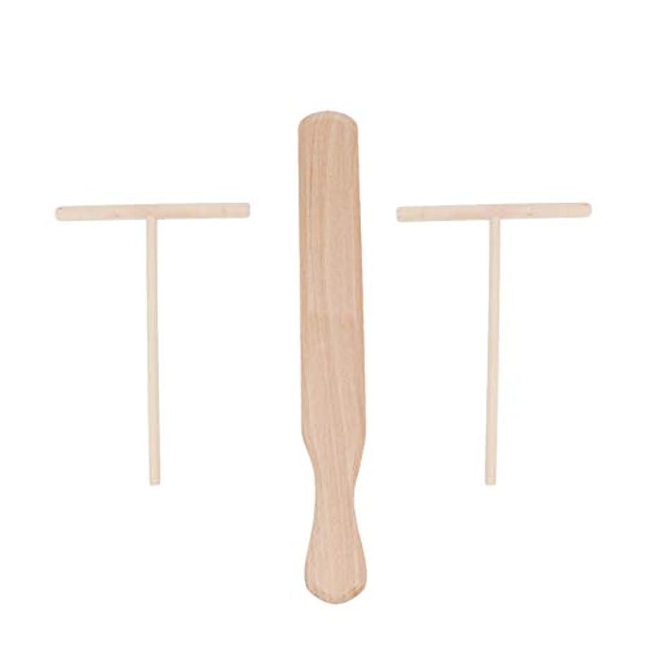対人問題夫UPKOCH 3個はブナ材クレープスプレッダーとヘラは木製のクレープメーカーを設定します
