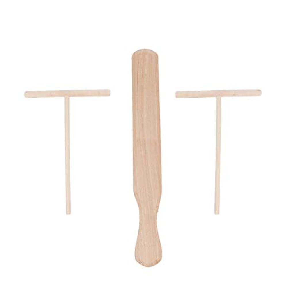 土地タオル方向UPKOCH 3個はブナ材クレープスプレッダーとヘラは木製のクレープメーカーを設定します