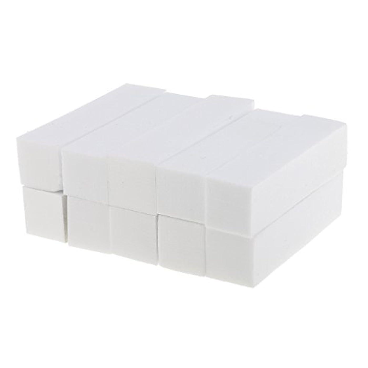 同様の広がり小切手Toygogo 10ピース/個ホワイトフォームネイルアートマニキュアペディキュアバッファーバフファイルネイルエクステンション、アクリルネイル、ネイルチップ、ナチュラルネイルを充填するためのツール