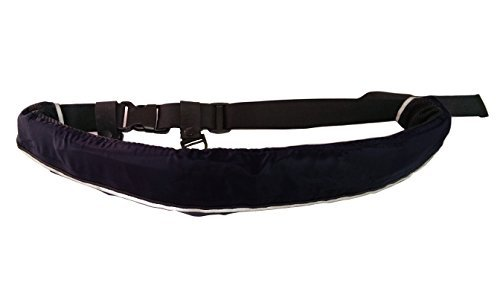 インフレータブルライフジャケット☆ベルトタイプ 自動膨張式 9色から選択可 (ブラック)