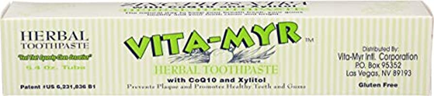 気楽な成功する思い出させるVITA-MYR Zinc-Plus Xtra Herbal Natural Toothpaste with CoQ10 and Xylitol 5.4 Oz by Vita-Myr