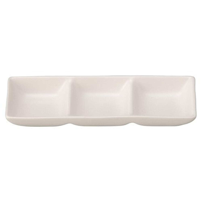 和(なごみ) 白 3つ仕切り薬味皿 [ L 20 x S 7 x H 2.7cm ] 【 鍋用品 】 【 飲食店 料亭 旅館 割烹 居酒屋 和食器 業務用 】