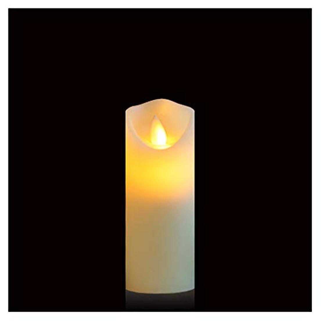 操るシャープ有名Gootu 火を使わないキャンドル 単3電池式 LEDピラーキャンドル 本物のロウ 揺らめく無香キャンドル 電子キャンドル レストランシーンキャンドル 誕生日パーティーキャンドル 高さ5インチ 組み合わせ ホワイト