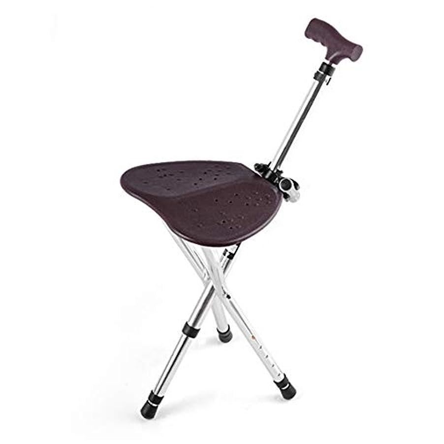 方程式風刺パンDSHUJCアルミニウム合金杖スツール杖席5高さ調整可能な360°回転懐中電灯滑り止めマットギフトとして高齢者のための背の高い男女兼用