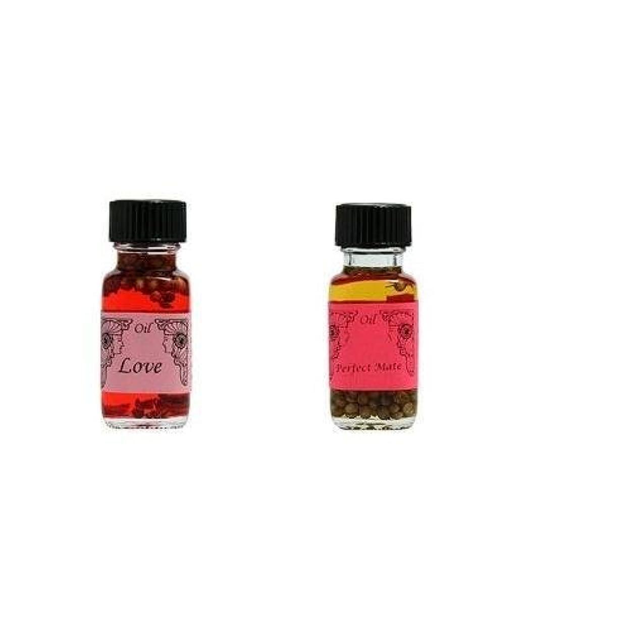 遺跡思いつくキノコ【愛】+【パートナー】Ancient Memory Oils 【人気の2点セット】アンシェントメモリーオイル【LOVE】 +【PERFECT MATE】 【海外直送品】