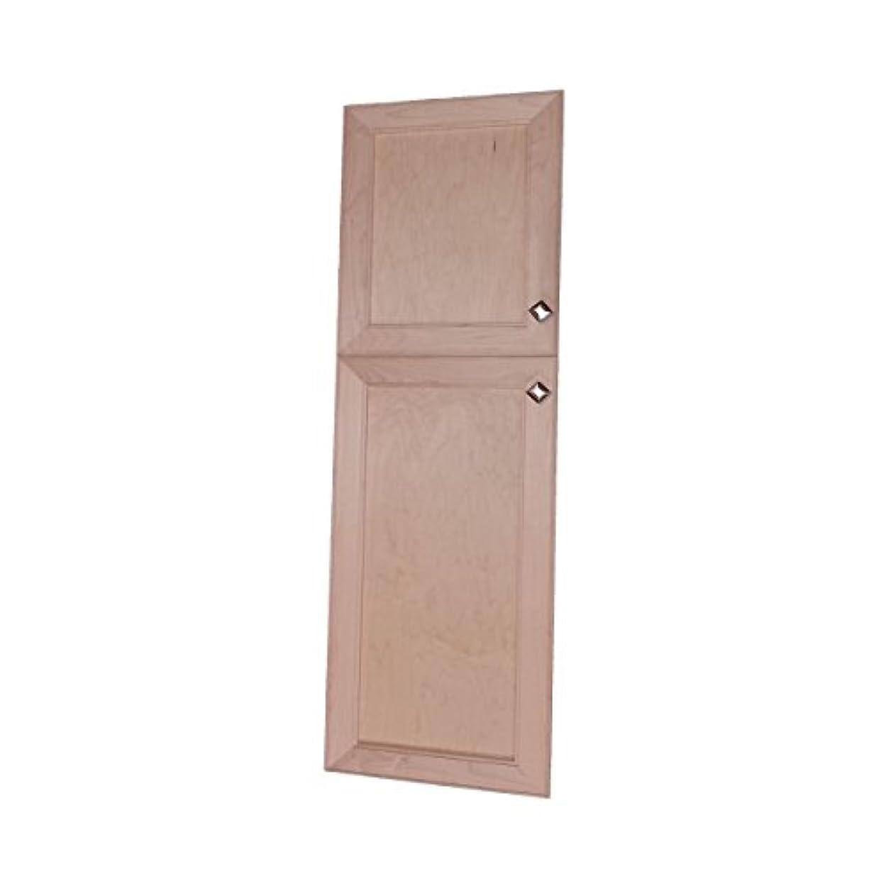 木製キャビネット ダイレクト 56インチ 高マックスウェル 壁枠なし 22/34 パントリー 薬キャビネット 3.5D