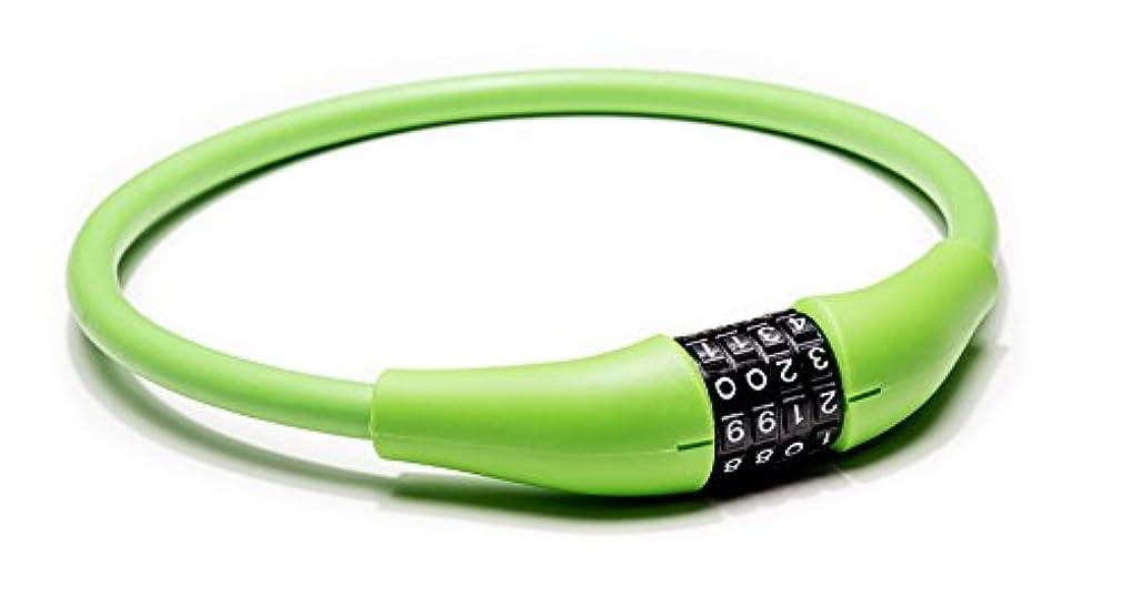 シルクケントスマートEyezOff EZ866自転車用ロック4ダイヤルケーブルコンビネーションロック、全天候用、グリーン、60cm