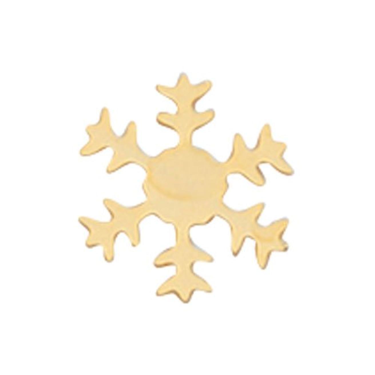 読み書きのできない感情の破壊的リトルプリティー ネイルアートパーツ スノーフレーク SS ゴールド 10個
