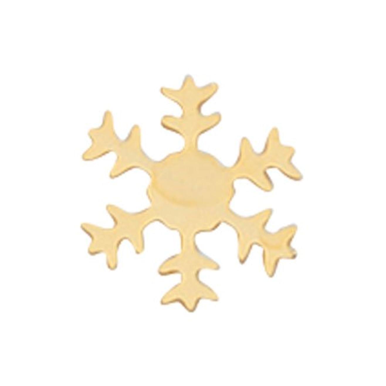 実際のキッチン発音リトルプリティー ネイルアートパーツ スノーフレーク SS ゴールド 10個