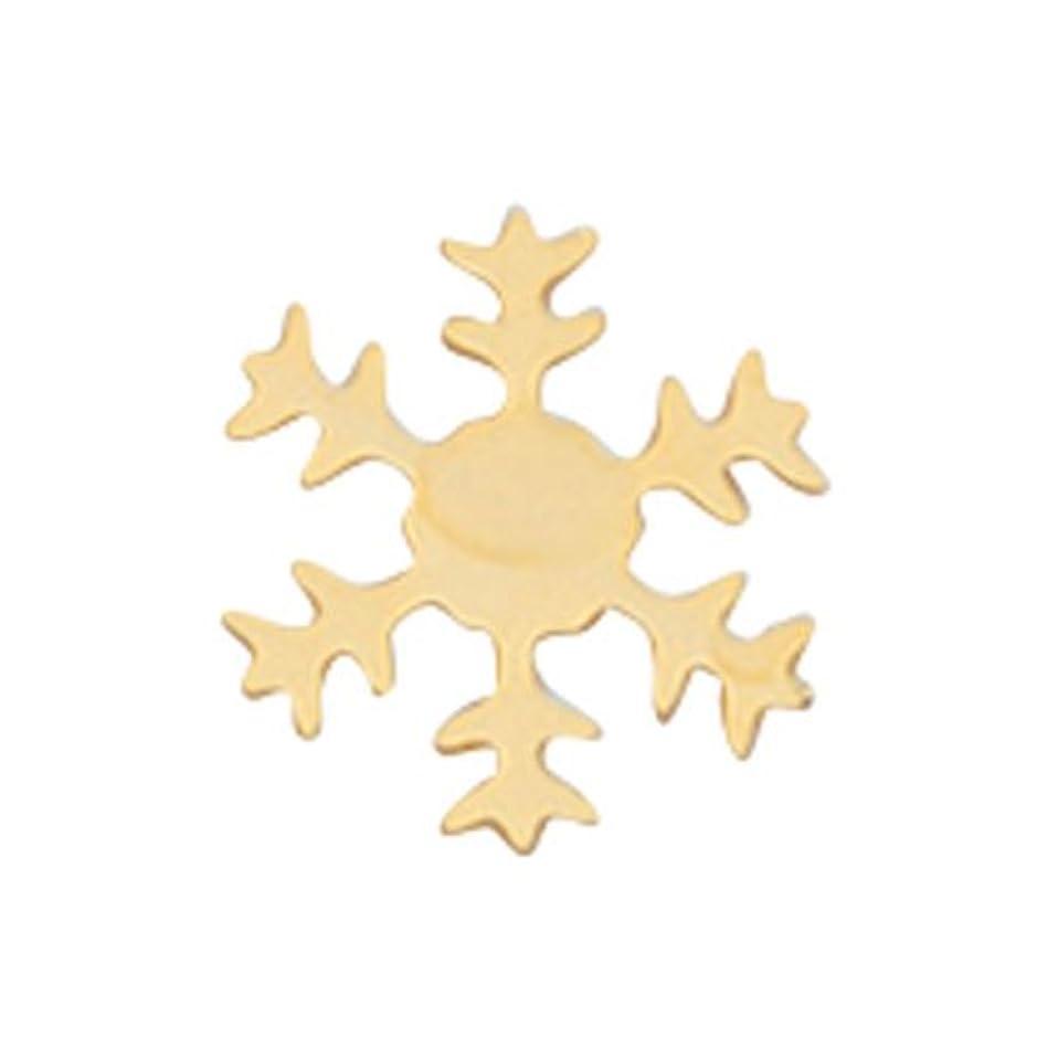 ライラックキリストハイキングリトルプリティー ネイルアートパーツ スノーフレーク SS ゴールド 10個