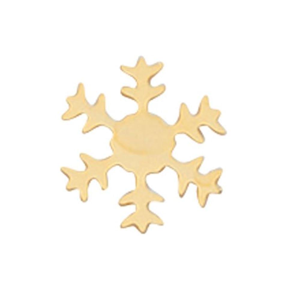 ズボン制約偏差リトルプリティー ネイルアートパーツ スノーフレーク SS ゴールド 10個