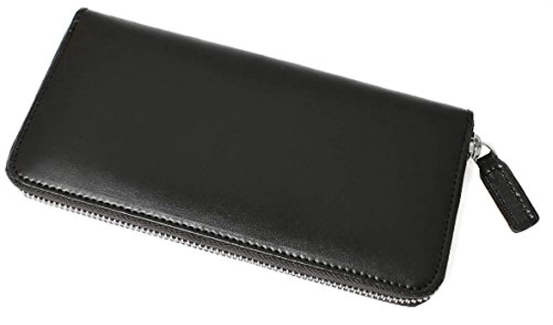 [サルバトーレマーラ]Salvatore Marra 財布 ラウンドファスナー長財布 小銭入れなし レザー メンズ T003A-MS ブラック
