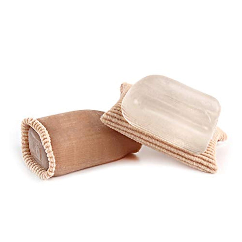 お茶交換可能褐色Healiftyファブリックジェルトゥスリーブフィンガートゥクッションチューブオープントゥチューブトゥトゥプロテクター用痛み緩和