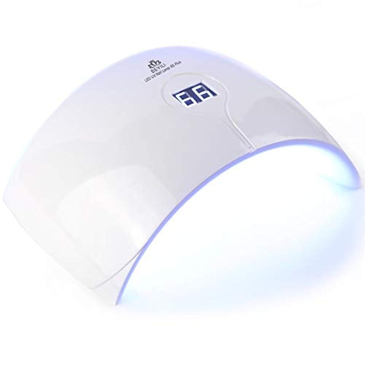 感情の声を出してポイントZHQI-NAIL 新しい36ワットuv ledランプネイルドライヤー用すべてのタイプジェル15 led uvランプ用ネイルマシン硬化ユニバーサル手と足 (色 : 白, Size : US plug)