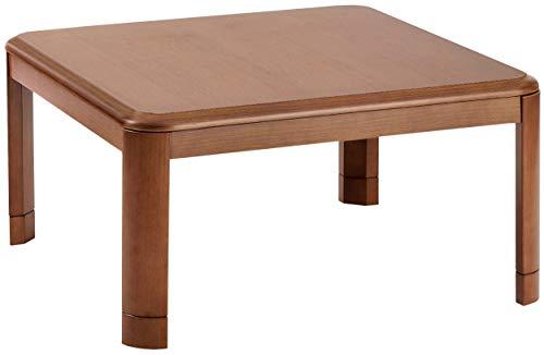 山善 家具調こたつ 天然木 継脚タイプ 高さ2段階調整 正方形 幅80cm WG-803H(MB)