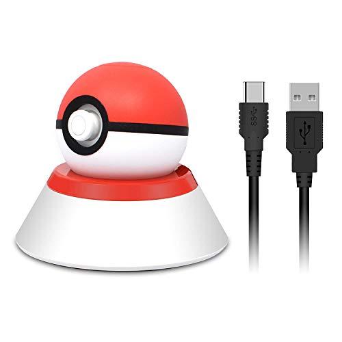 モンスターボーplus用 充電スタンド モンスターボール plus 置くだけ充電 Nintendo Switch モンスターボールプラス充電器 充電ケーブル+スタンド 持ち運び簡単
